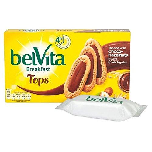Belvita Tops Choco Hazelnut 5 x 50g - Pack of 2