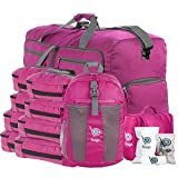 Lightweight Family Travel Bag Set - Luggage, Carryon & Packing Accessories (Pink)
