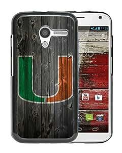 Fashionable And Unique Designed Cover Case With NCAA Atlantic Coast Conference ACC Footballl Miami (FL) Hurricanes 8 Black For Motorola Moto X Phone Case