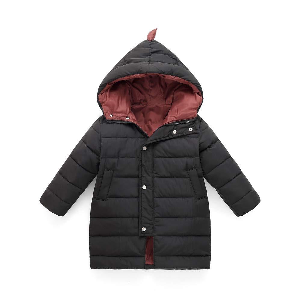 Hoodies & Sweatshirts Princer for 1-6 Years Old Kids Jacket Baby Girl Boy Winter Cotton Hooded Coat Dinosaur Style Headwear Zipper Outwear Clothes