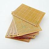 Kaifani 100pcs New Prototype Paper Copper PCB Universal Experiment Matrix Circuit Board 5x7cm Brand