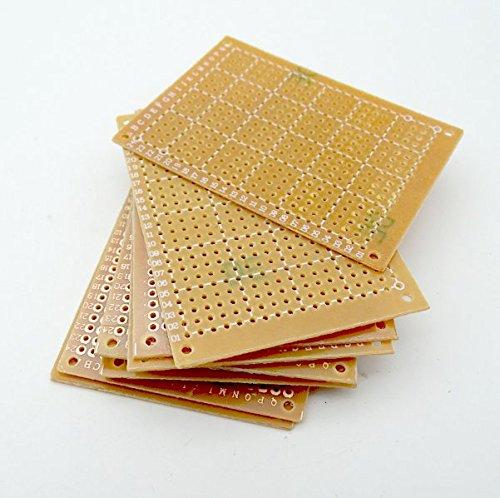 Kaifani 100pcs New Prototype Paper Copper PCB Universal Experiment Matrix Circuit Board 5x7cm Brand by Kaifani (Image #2)