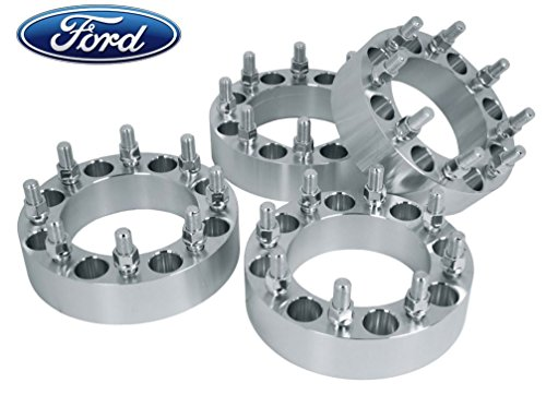 Complete Set of 1.5 Inch Thick 8 Lug Billet Wheel Spacers Adapters 8x170 MM Works with 1999-2002 Ford F-250 F-350 Dually W/ 14x2.0 Thread Same Day Shipping