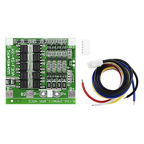 Diymore 4S Li-ion Lithium 30A 14.8V 18650 Battery BMS PCB Protection Board Cell Balance Integrated Circuits