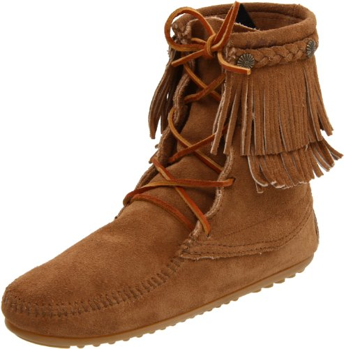 Minnetonka Women's Ankle Hi Tramper Boot,Taupe,7 M US ()