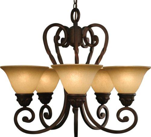 Volume Lighting Isabela 5-light Italian dusk chandelier