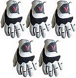 5 100% Cabretta Leather Golf Gloves V Logo (Medium, left)