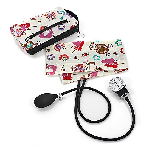 Prestige Medical Premium Aneroid Sphygmomanometer with Carry Case, Woodsy Animals Grey