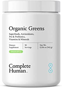 Complete Human | Organic Greens | Superfoods | Anitoxidants | Probiotics | All Natural | Dietary Supplement | Digestive Enzymes