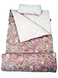 SoHo kids Rosey Paisley children sleeping slumber bag with pillow and carrying case lightweight foldable for sleep over