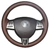 Loncky Auto Genuine Leather Steering Wheel Covers for Jaguar XF 2009 2010 2011 Jaguar XK 2007 2008 2009 2010 2011 Interior Accessories Parts