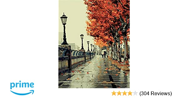 Amazon Colour Talk DIY Oil Painting Numbers Kit Romantic Love Autumn Toys Games