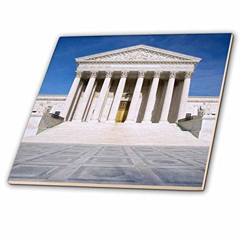 3dRose ct_88977_4 Washington, D.C, Supreme Court Building-Us09 Bja0018-Jaynes Gallery-Ceramic Tile, 12-Inch