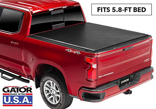 (Gator ETX Soft Roll Up Truck Bed Tonneau Cover | 137245 | fits 2019 GMC Sierra/Chevy Silverado 1500 (New Body Style), 5.8' Bed | Made in the USA)
