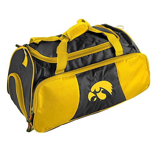 University Iowa Duffel Bag 22Inch, MultiCompartment, Polyester by OTSK