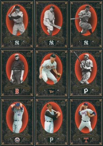 2007 SP Legendary Cuts Baseball Complete Mint 100 Card Basic Set made by Upper Deck. Absolutely Loaded with Stars and Hall of Famers Including Babe Ruth, Cal Ripken, Joe DiMaggio, Cy Young, Reggie Jackson, Killebrew, Honus Wagner, Johnny Bench, Puckett, Lou Gehrig, Nolan Ryan, Musial, Gwynn, Schmidt, Phil Rizzuto, Tom Seaver, Pee Wee Reese, Campanella, Roberto Clemente, Yogi Berra, Thurman Munson and Many More ()