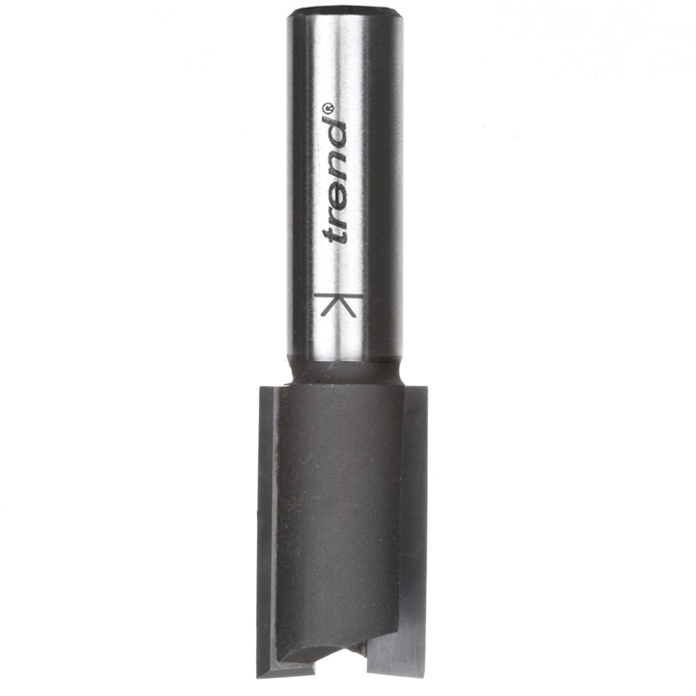 Trend T051X1/2TC 5/8-Inch Straight Double Flute Carbide Tipped Router Bit, 1-1/4-Inch Cut