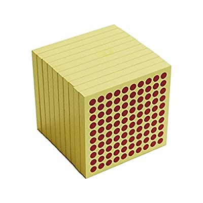 Montessori 10 Wooden Hundred Squares: Toys & Games