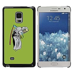 PC/Aluminum Funda Carcasa protectora para Samsung Galaxy Mega 5.8 9150 9152 Scythe Death Funny Reaper Grim Green / JUSTGO PHONE PROTECTOR