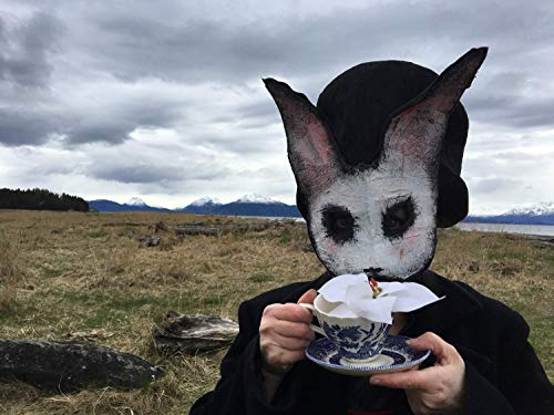 Scary Rabbit mask, Creepy Bunny Mask. Creepy paper animal mask. Purge masquerade mask - Adult Halloween animal Costume - White Rabbit -