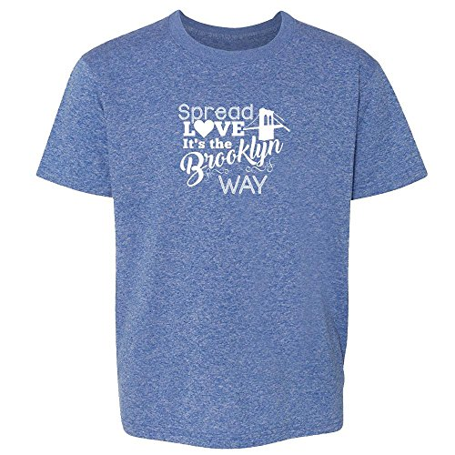 Pop Threads Spread Love It's The Brooklyn Way Heather Royal Blue 2T Toddler Short Sleeve Kids T-Shirt Baby/Toddler/Little (Wallace Royal Thread)