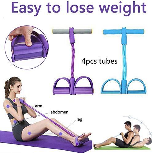 🥇 Cuerda de tensión Multifuncional Fitness Pedal Ejercitador Cuerda Pull Bands Yoga Fitness Foot Pedal Pull Ropes