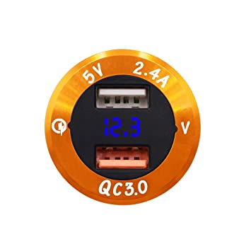 1KTon - Cargador de Coche USB de Doble Puerto (30 W, Carga ...