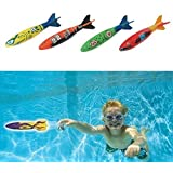 Set Of 4Pcs Toypedo Bandits Swimming Pool Diving Game Summer