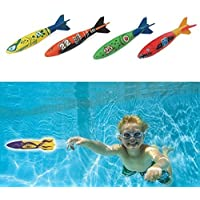 Set Of 4Pcs Toypedo Bandits Swimming Pool Diving Game Summer