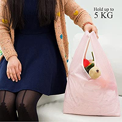 Environmentally Friendly Shopping Bags, Reusable bags for your groceries,Folding Reusable Grocery Bags,Waterproof (5-Pack)