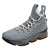Nike Youth Lebron 15 Boys Basketball Shoes Black/Safety Orange/Wolf...