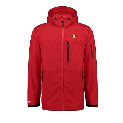 8ce93e581ec0b Amazon.com: Scuderia Ferrari Formula 1 Men's Red Rain Jacket: Sports ...