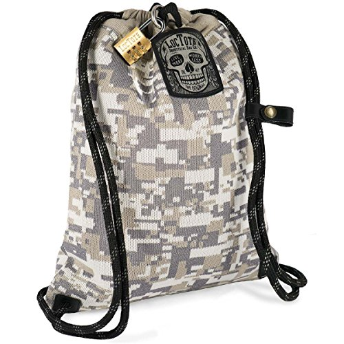 LOCTOTE Flak Sack COALITION - The Most Badass Theft-Resistant Bag   Anti-theft   Lockable   Slash-Proof   Glow-in-the-Dark by LOCTOTE