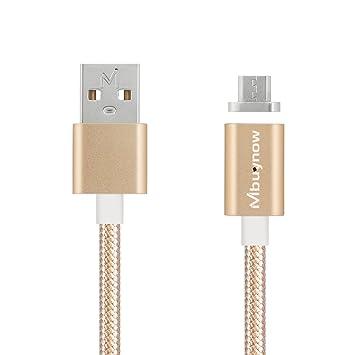 Cable Micro Usb Carga Rápida de Nilón , Mbuynow 3A/ 3.3 pies - Cable USB Micro Magnético USB Cargador Micro USB - Cable USB Sincro y Carga usb para ...