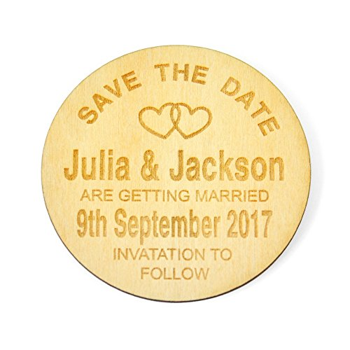 Custom Wooden Fridge Magnets,Rustic Save The Date Refrigerator Magnets,Elegant Wedding Invitataion magnests,Refrigerator Magnets,Wedding Favor,Bridal Shower Gift (Autumn Save The Date Magnets)