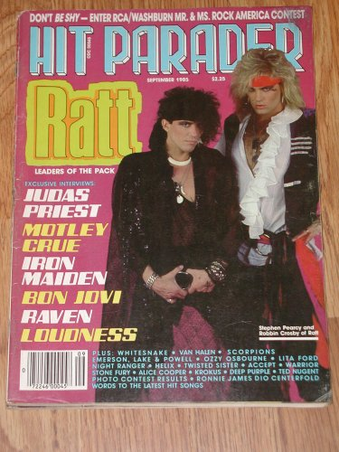 Hit Parader Magazine Back Issue - September 1985 RATT Stephen Pearcy & Robbin Crosby Cover
