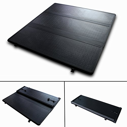 C/k Pickup Short Bed - Super Drive HT024 Solid Tri-Fold Tonneau Cover For 1999-2006 Chevy Siverado GMC Sierra 6.5' Short Bed Hard Truck Bed Cover Exculdes C/K
