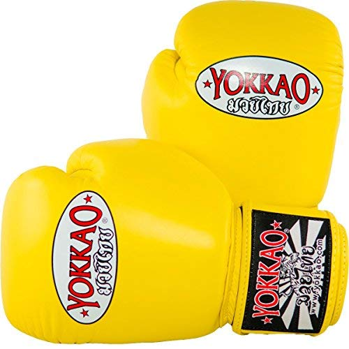 YOKKAO Matrix Breathable Muay Thai Boxing Glove - Black, Red, Blue, White, Yellow, Green, Grey - 2018 (Yellow, 16 ()