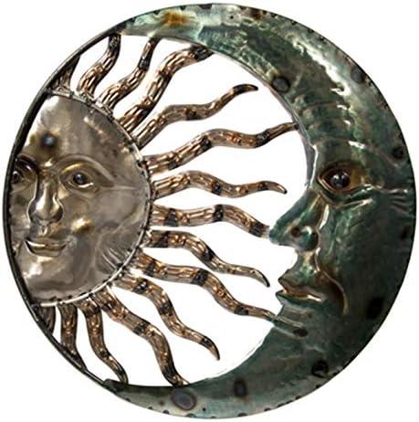Metal Wall Art Crescent Moon Sun Wall Plaque