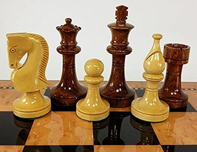 4 Queens Sheesham LACQUERED Staunton Wood Russian Knight Chess Men Set - NO Board