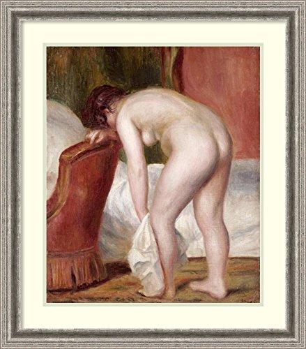 Framed Art Print 'Female Nude Drying Herself' by Pierre-Auguste Renoir