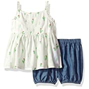 The Children's Place Baby Girls' Top and Shorts Set, Snow 79441, 0-3MONTHS