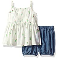 The Children's Place Baby Girls' Top and Shorts Set, Snow 07944, 0-3MONTHS