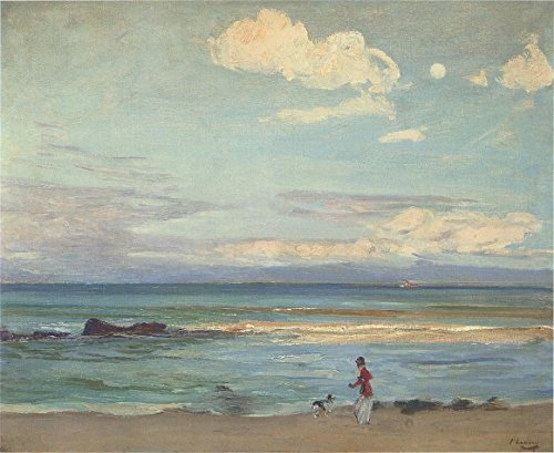 Cutler Miles Evening On The Coast Of Spain, From Tangier by Sir John Lavery, R.a. Hand Painted Oil on Canvas Reproduction Wall Art. 30x24 by Cutler Miles