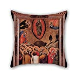 Oil Painting Barnaba Da Modena - The Ascension Cushion Cases 18 X 18 Inch / 45 By 45 Cm For Office,gf,teens,kids Boys,bedroom,home Theater With Double Sides