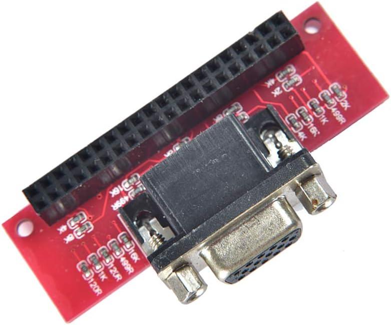 A+ Comimark 1Pcs Gert-VGA 666 VGA666 Module Adapter Board for Raspberry Pi 3 B 2 Model B