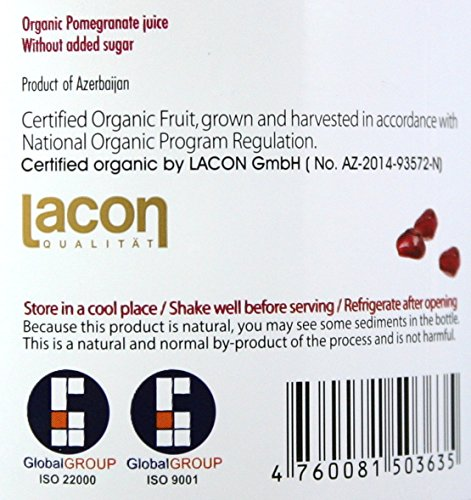 100% Pomegranate Juice - 6 Pack,33.8Fl Oz - USDA Organic Certified - Glass Bottle - No Sugar Added - No Preservatives - Squeezed From Fresh Pomegranates by Blue Ribbon (Image #6)