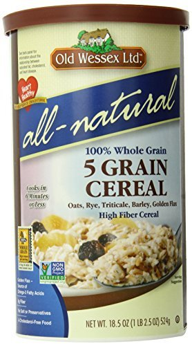 Old Wessex Ltd. All-Natural 5 Grain Cereal, 18.5-Ounce Canisters (Pack of 12) by Old Wessex