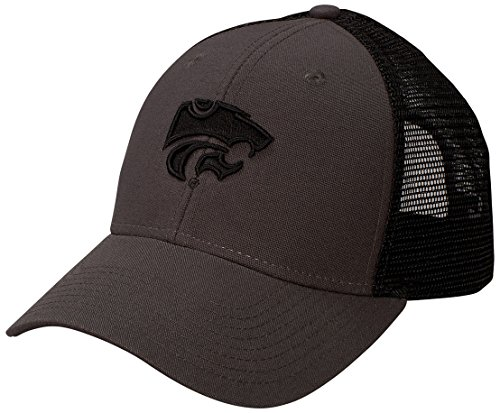 NCAA Kansas State Wildcats Industrial Canvas Mesh Cap, Adjustable Size, - Wildcats Kansas State Mesh