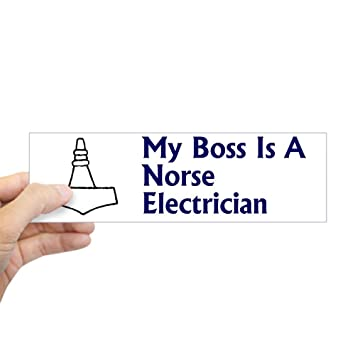 Cafepress norse electrician sticker 1 bumper 10x3 rectangle bumper